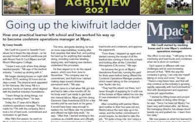 Up and Up the Kiwifruit Ladder